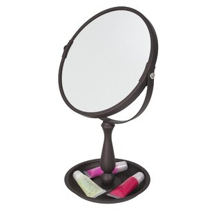 Home Basics Integrated Tray Cosmetic Mirror