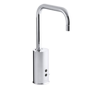 Gooseneck Single-Hole Touchless Ac-Powered Commercial Faucet with Insight Technology and Temperature Mixer By Kohler
