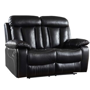 Ullery Upholstered Living Room Recliner Reclining Loveseat by Winston Porter