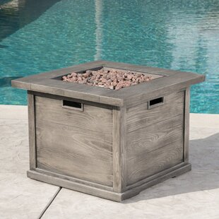 Sherry Polyresin Propane Gas Fire Pit Table