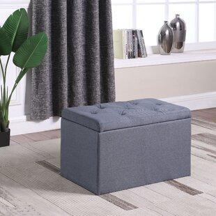 Charlton Home Rocky Shoe Tufted Gauze Upholstered Storage Bench