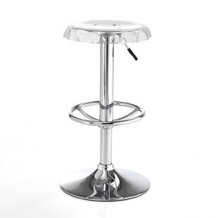 Pershore Height Adjustable Bar Stool (Set Of 2) By Mercury Row