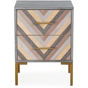 Moller 3 Drawer Nightstand by Bungalow Rose