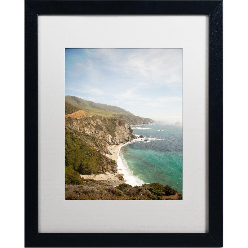Trademark Art Big Sur Coastal Framed Photographic Print On Canvas Wayfair