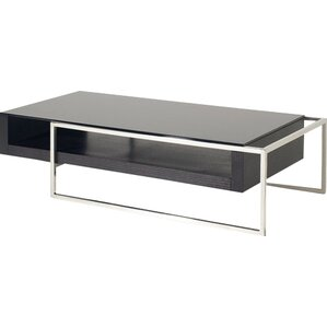 Camron Contemporary Steel Base Coffee Table