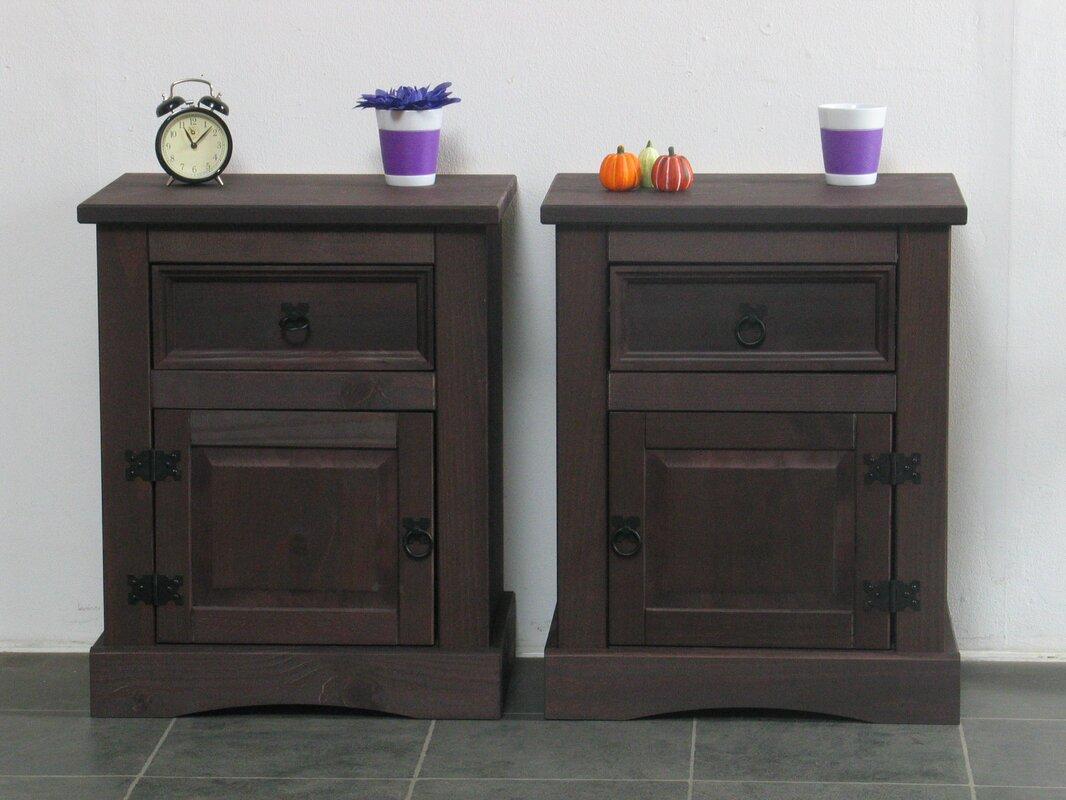 alpenhome nachttisch set alcanza mit schublade. Black Bedroom Furniture Sets. Home Design Ideas