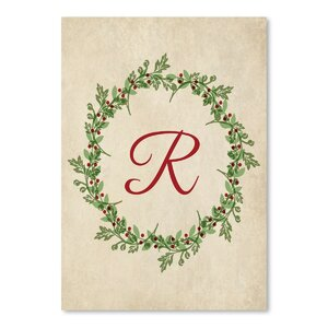 'Christmas Wreath R' by Samantha Ranlet Graphic Art