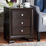Fisher Classic Wood 3 Drawer Nightstand by Winston Porter