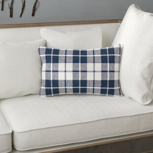 Eulalia Plaid Cotton Lumbar Pillow