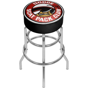 Dodge Scat Pack Club 31 Swivel Bar Stool Trademark Global