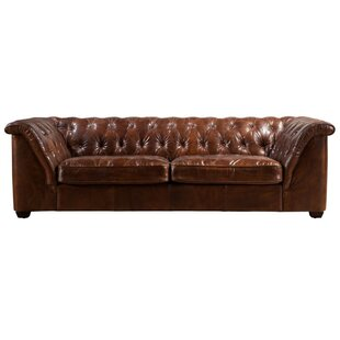 Deandre Leather 4 Seater Chesterfield Sofa By Williston Forge