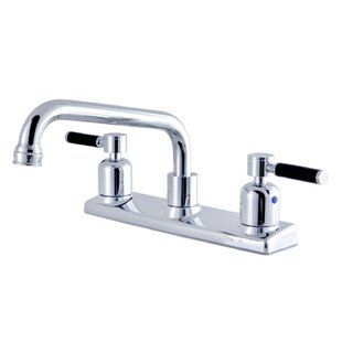 Kingston Brass Kaiser Pull Out Double Handle Kitchen Faucet