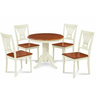 Kelston Mills Solid Wood 5 Piece Solid Wood Dining Set Alcott Hill