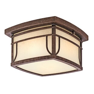 Millwood Pines Forster Aged 2-Light Outdoor Flush Mount