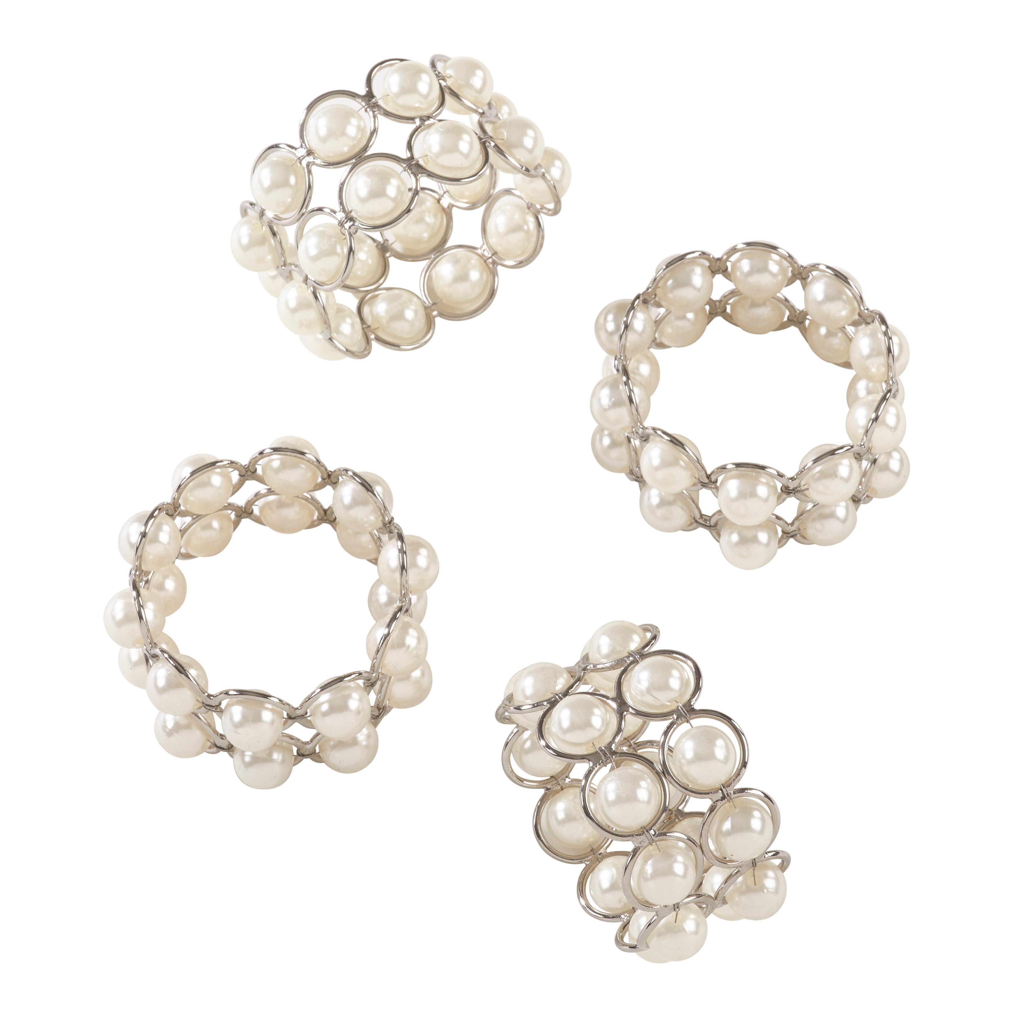 Le Prise Pearl Wedding Event Iron Napkin Ring Wayfair