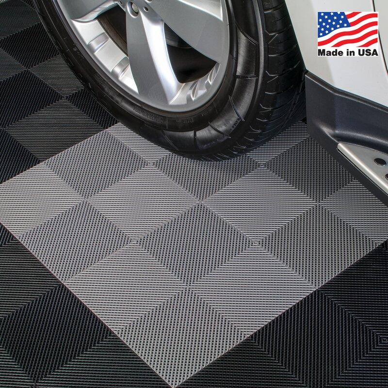 BlockTile X Deck And Patio Flooring Tile In Gray Reviews - 12 x 12 rubber floor tiles