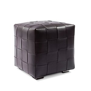 Cube Leather Ottoman by Serge ..