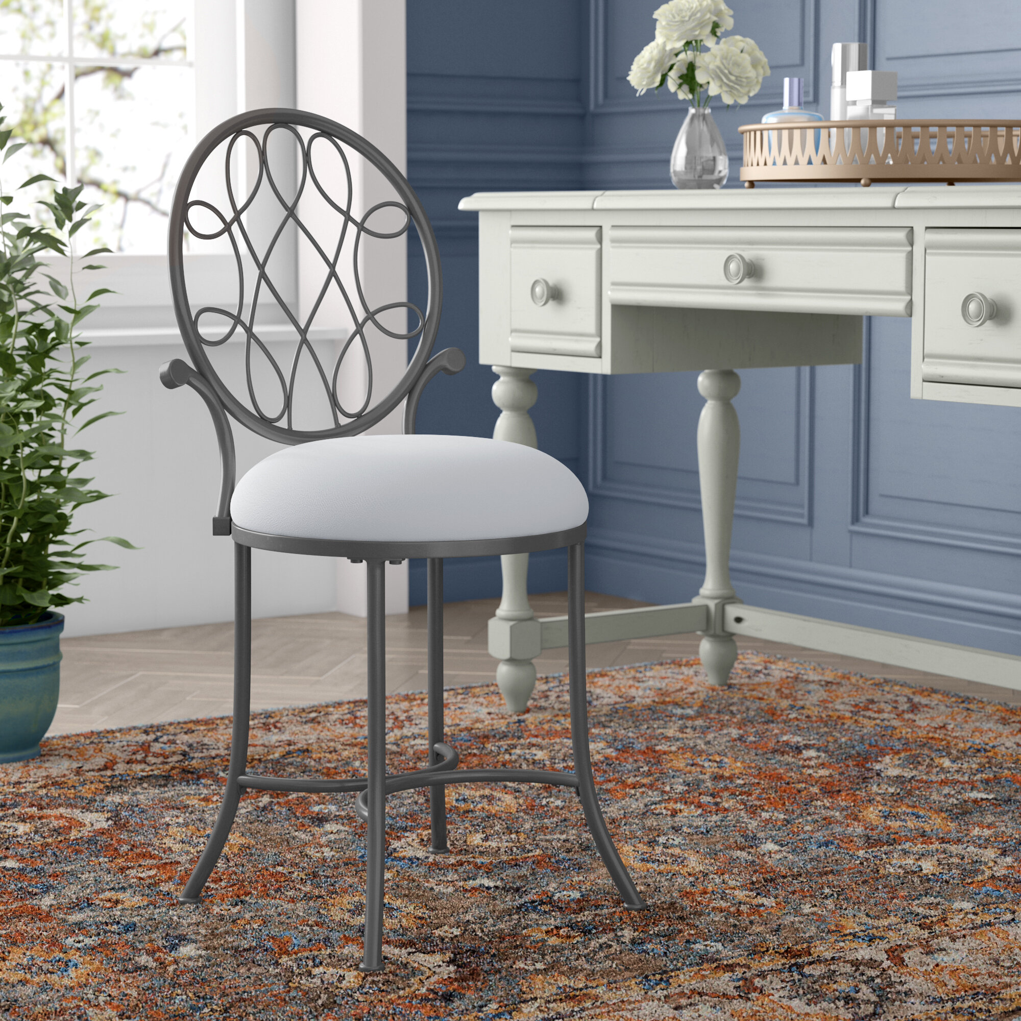 size hillsdale full upholstered chair chairs makeup furniture dutton photos walmart wheels chrome awesome stool of ideas swivel bathroom stools vanity amazon