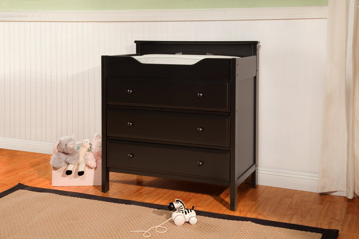 Cherry Changing Table Dresser Combo Best Changing Table