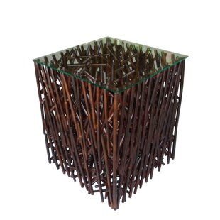 Lundeen Maze Bamboo End Table
