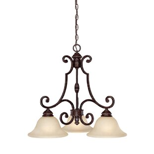 Fleur De Lis Living Byington 3-Light Shaded Chandelier