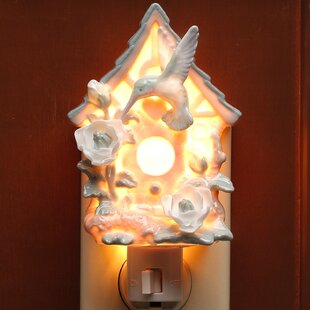 Cosmos Gifts Hummingbird on Birdhouse Night Light