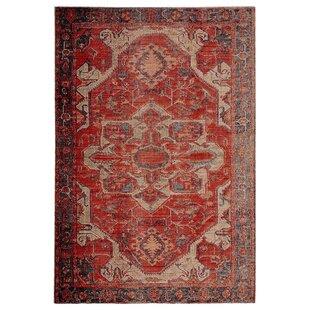 Farragut Oriental Red/Beige Indoor/Outdoor Rug By Blue Elephant