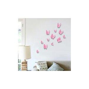 12 Piece 3D Butterfly Wall Stickers