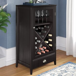 Darby Home Co Bangor 24 Bottle Floor Wine Cabinet