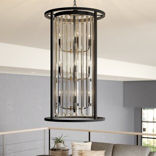 Cavanaugh 12-Light Cylinder Pendant by Rosdorf Park