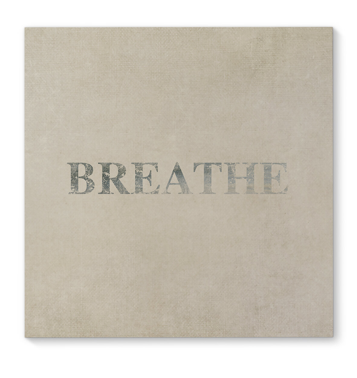 Kavka Breathe Wrapped Canvas Textual Art