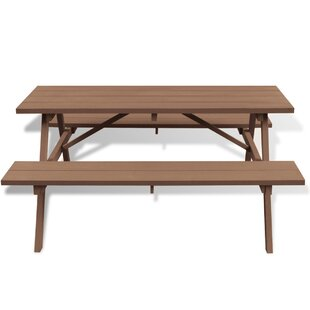 Wooden Picnic Table By Sol 72 Outdoor