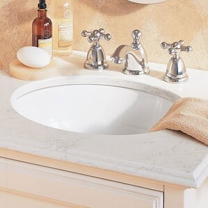 ovalyn universal access oval undermount bathroom sink with overflow