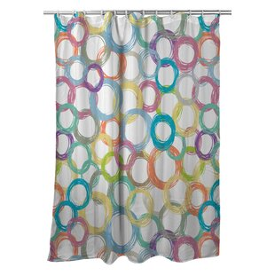 Modern Coiled Single Shower Curtain