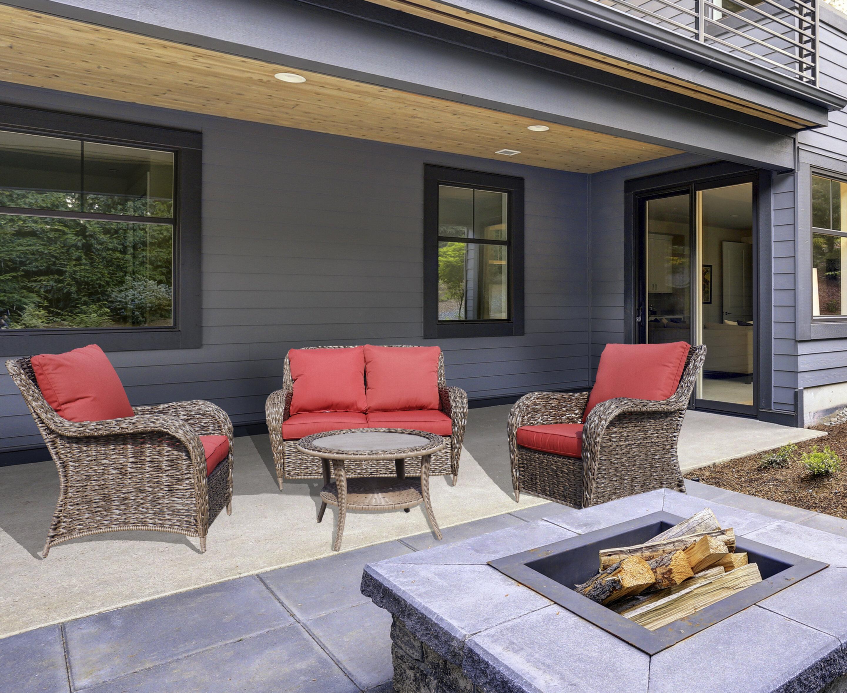 Bayou Breeze Gaenside 4 Piece Sofa Seating Group With Cushions Wayfair