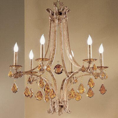 Classic Lighting Mediterranean 6-Light Candle Style Chandelier