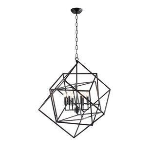 Beechmeadow 6-Light Geometric Chandelier by Wrought Studio