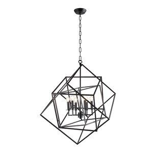 Beechmeadow 6-Light Geometric Chandelier by Wrought Studio