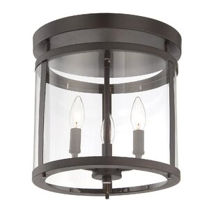 Alcott Hill Aldergrove 3-Light Flush Mount