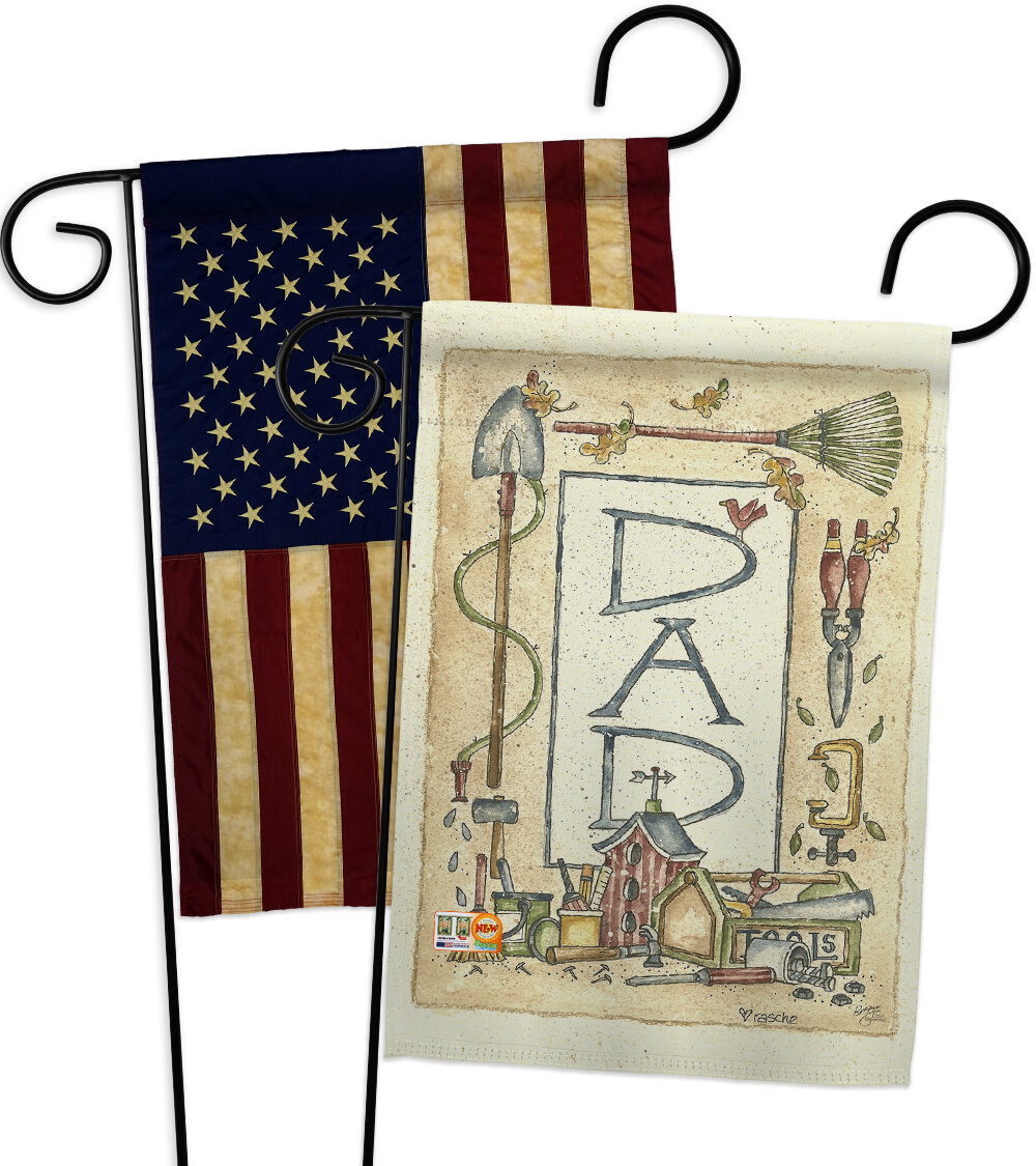Breeze Decor Dad Border Impressions Decorative 2 Sided Polyester 19 X 13 In 2 Piece Garden Flag Set Wayfair