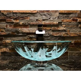 Compare & Buy Crown Glass Circular Vessel Bathroom Sink ByElegant Glass Engraving Studio