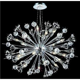 Everly Quinn Drusilla 24-Light Sputnik Chandelier