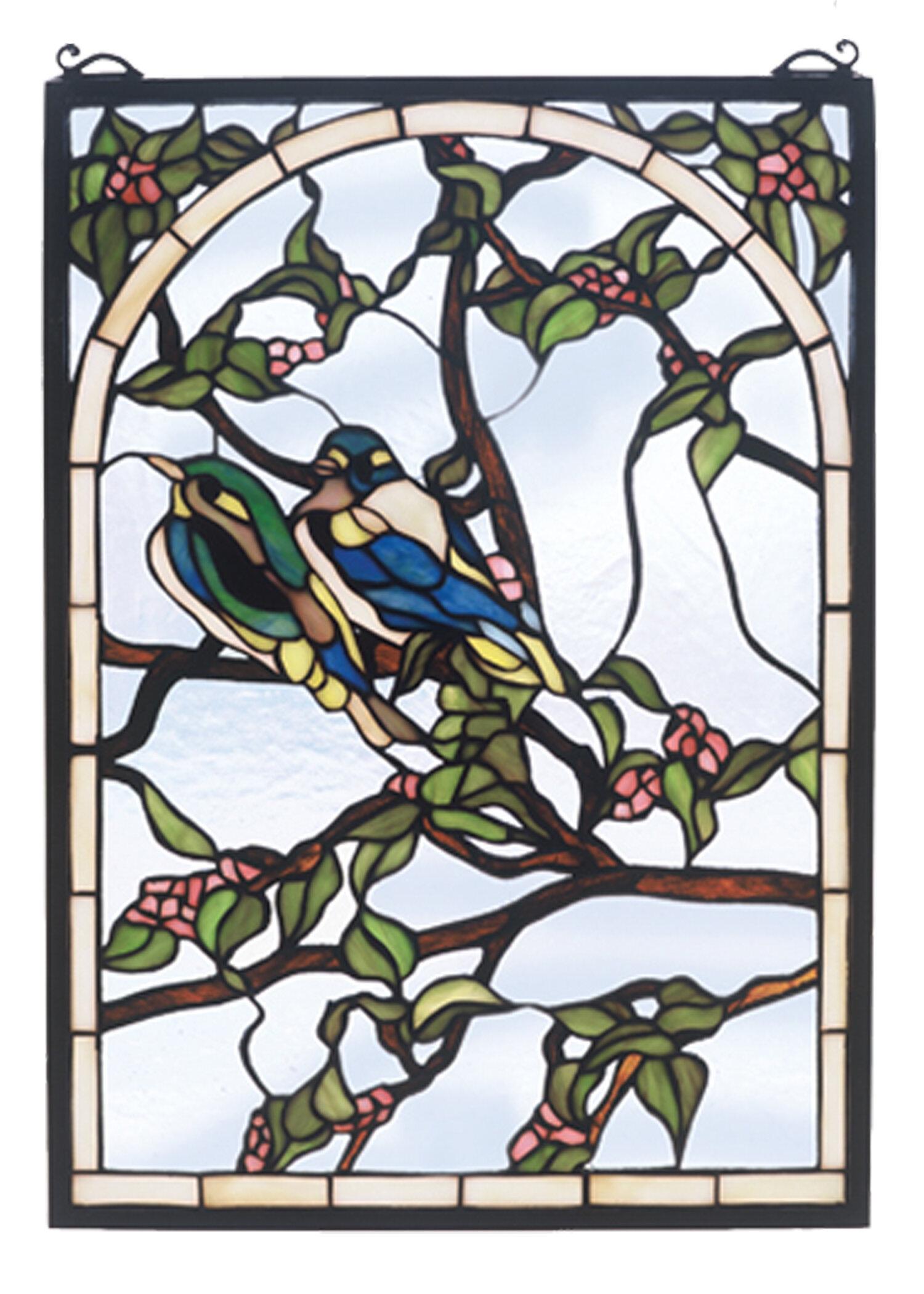 Meyda Tiffany Lovebirds Stained Glass Window Reviews Wayfair