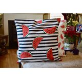 Kristopher Watermelon Print Indoor/Outdoor Throw Pillow (Set of 2)
