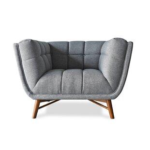 Everly Quinn Claris Mid-Century Modern Barrel Chair