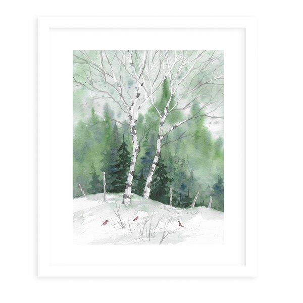 Framed Birch Tree Art | Wayfair.ca