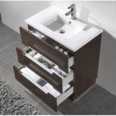 Verona 30 single bathroom vanity set with mirror