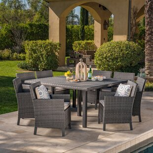 Waban 9 Piece Dining Set With Cushions By Brayden Studio