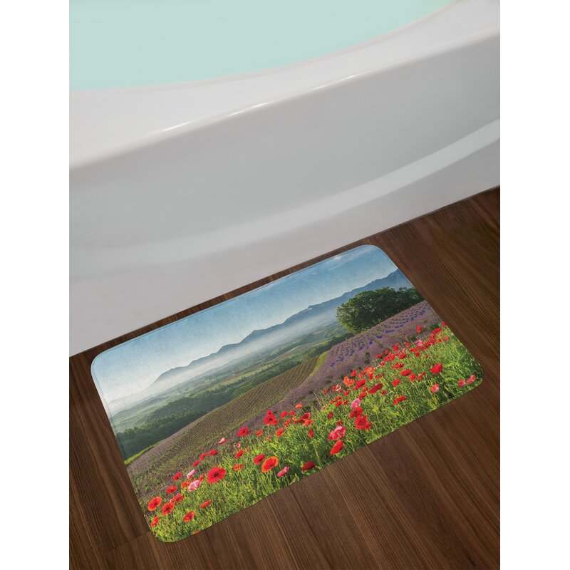 East urban home poppy flower bath rug wayfair poppy flower bath rug mightylinksfo