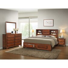 Asger Queen Platform Customizable Bedroom Set by Roundhill Furniture